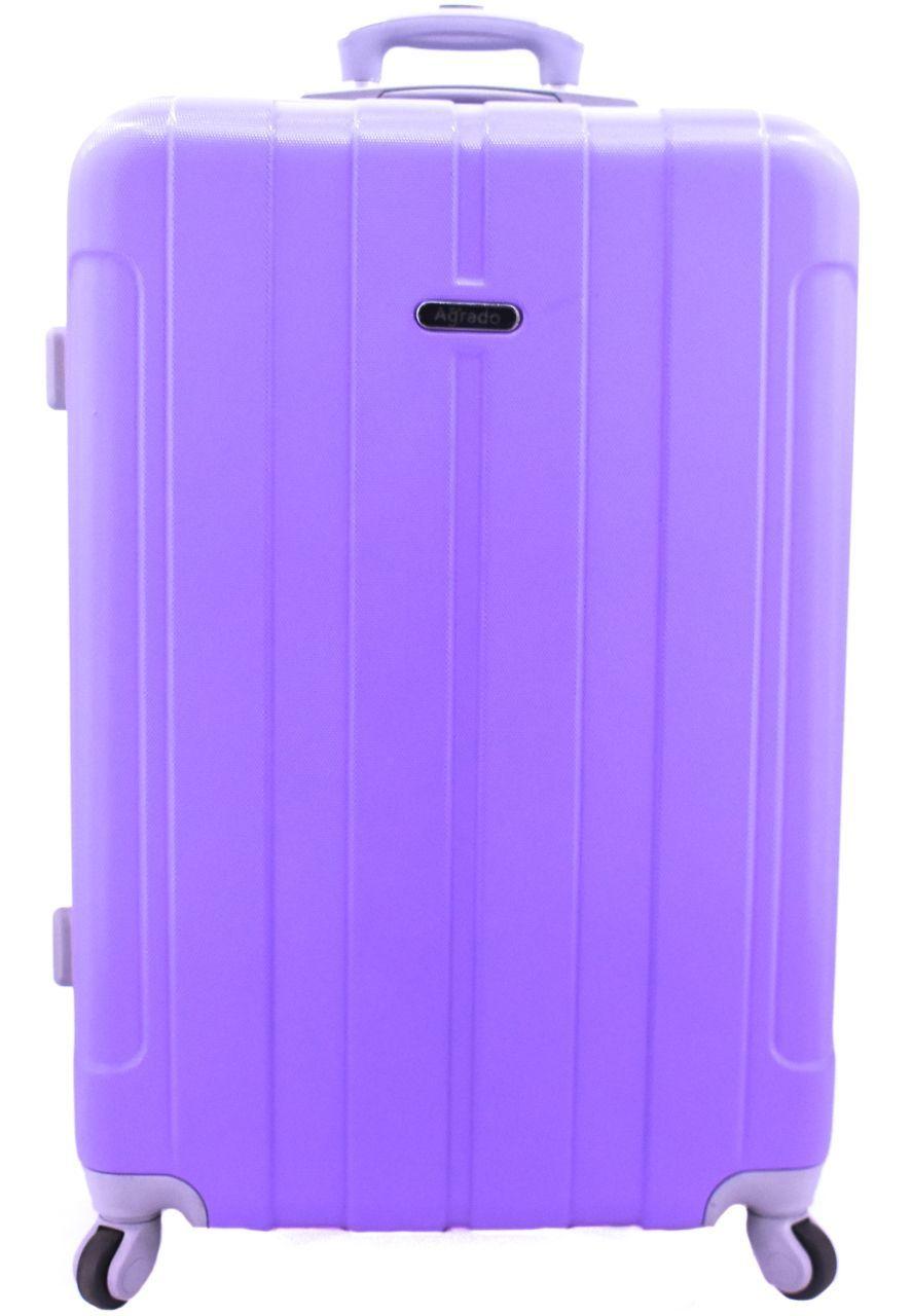 Cestovní palubní kufr skořepinový na čtyřech kolečkách Agrado - (S) 40l - fialová 6018 (S)