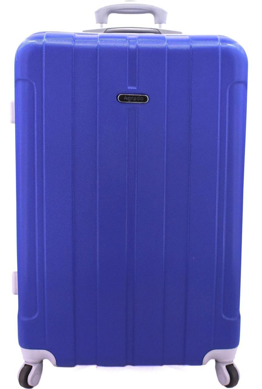 Cestovní kufr skořepinový na čtyřech kolečkách Agrado (M) 60l - středně modrá (M) 6018 (M)