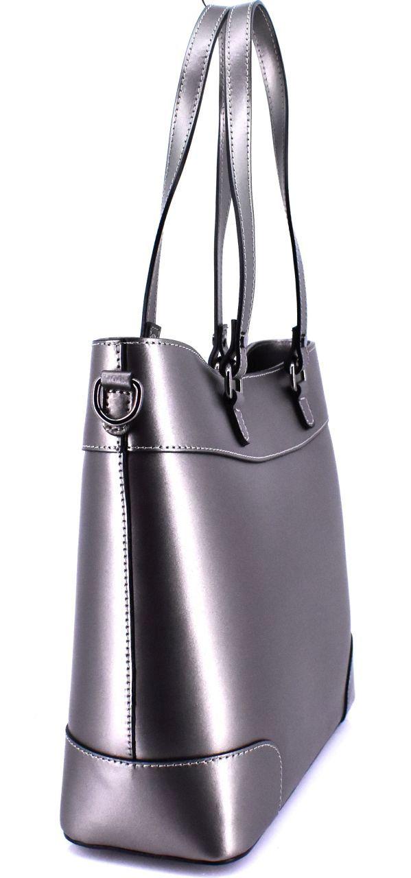 Dámská kožená kabelka Arteddy - antracit 40914