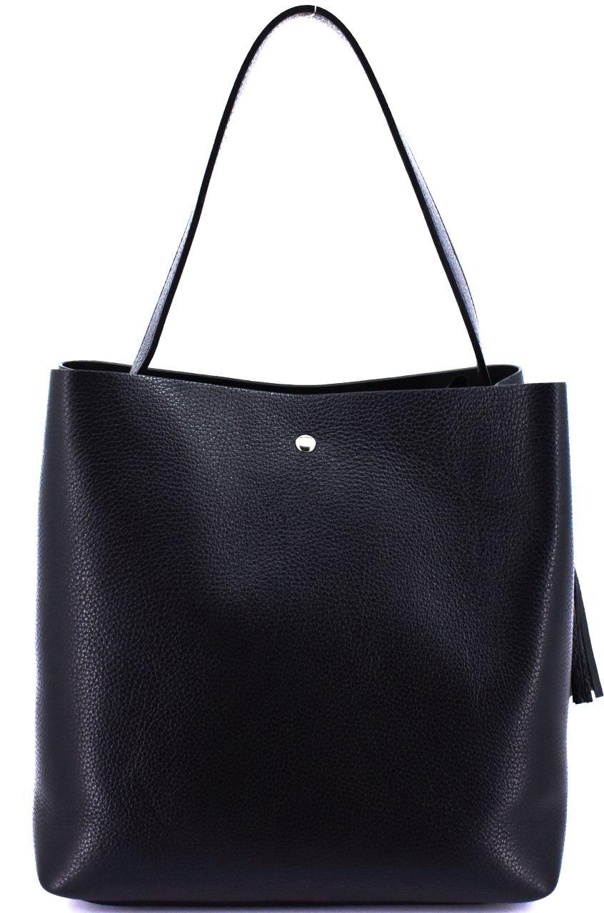 Moderní dámská kožená kabelka Arteddy - červená 40916