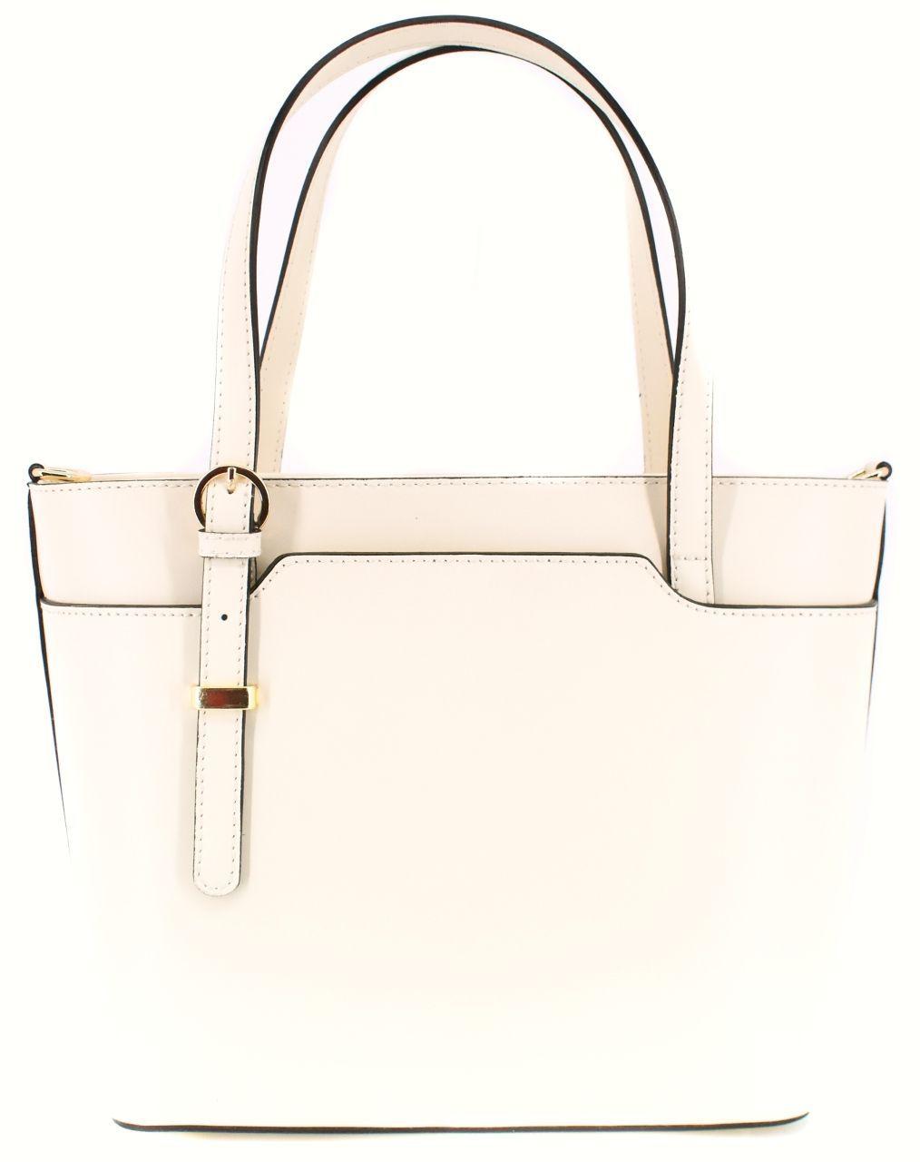 Moderní dámská kožená kabelka Arteddy - krémová 40918