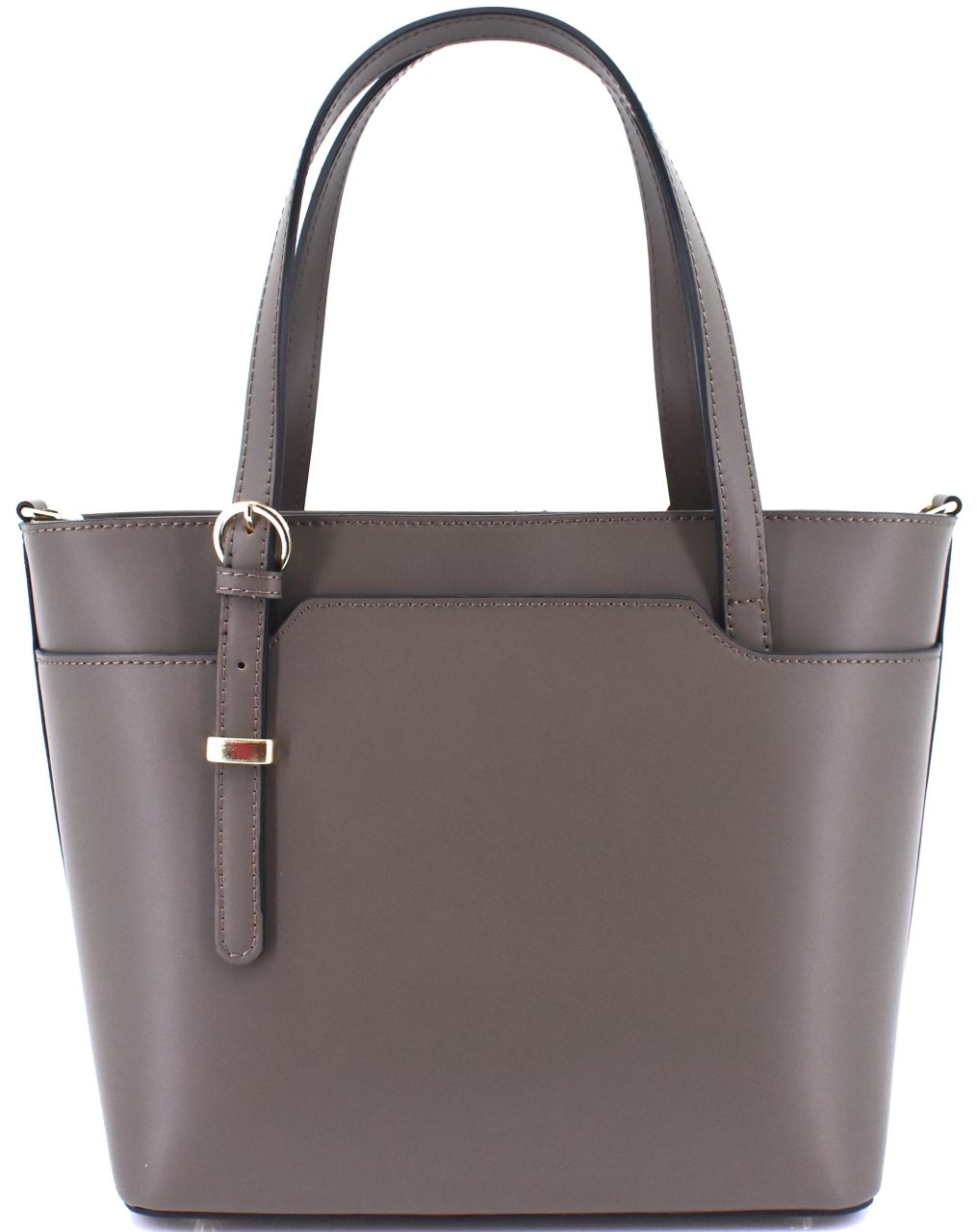Moderní dámská kožená kabelka Arteddy - taupe
