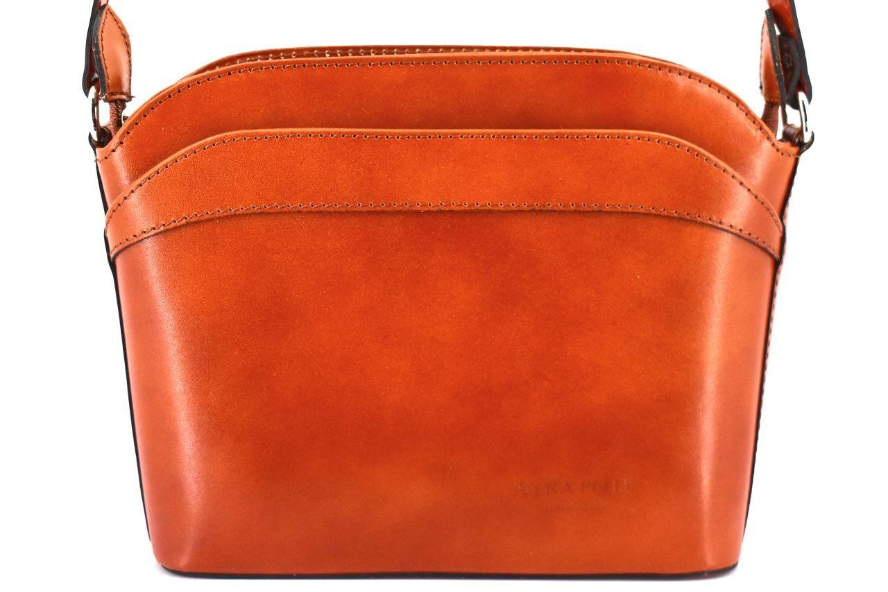Dámská kožená kabelka crossbody Arteddy - camel 36930