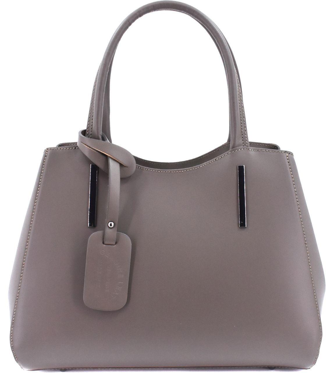 Dámská kožená kabelka Arteddy - taupe