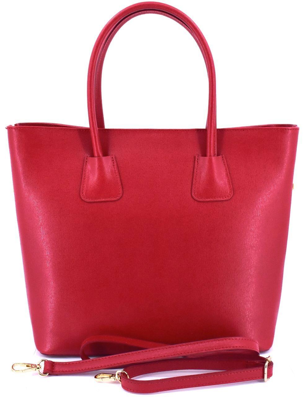 Moderní dámská kožená kabelka Arteddy - červená 40912