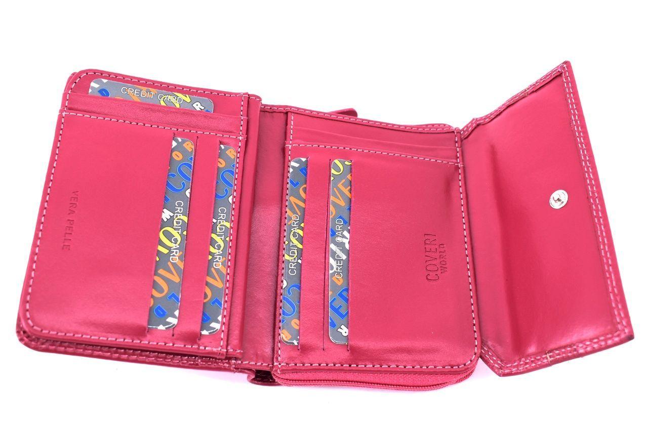 Dámská kožená peněženka Coveri World - zelená 33290