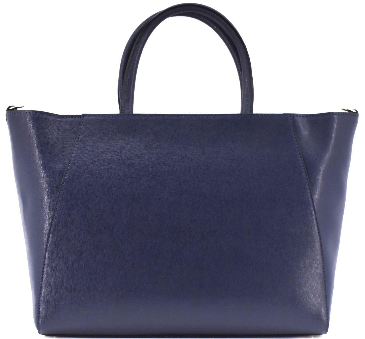 Moderní Shopper dámská kožená kabelka Arteddy - tmavě modrá 32454