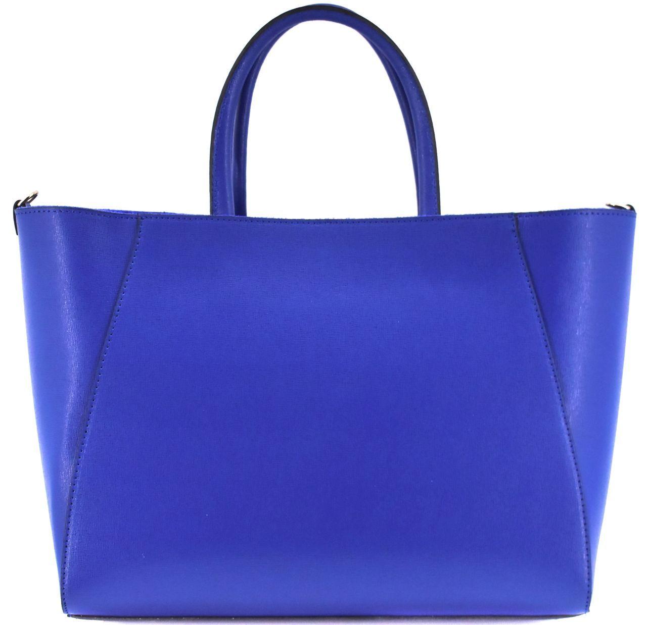 Moderní Shopper dámská kožená kabelka Arteddy - světle hnědá