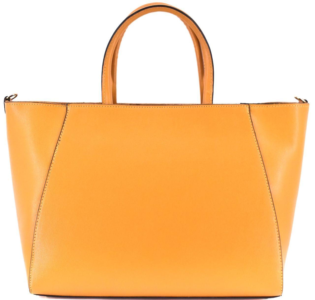 Moderní Shopper dámská kožená kabelka Arteddy - hořčicová 32454