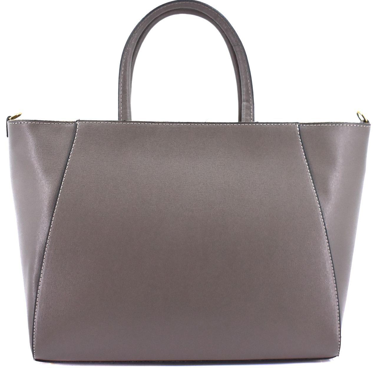 Moderní Shopper dámská kožená kabelka Arteddy - taupe 32454