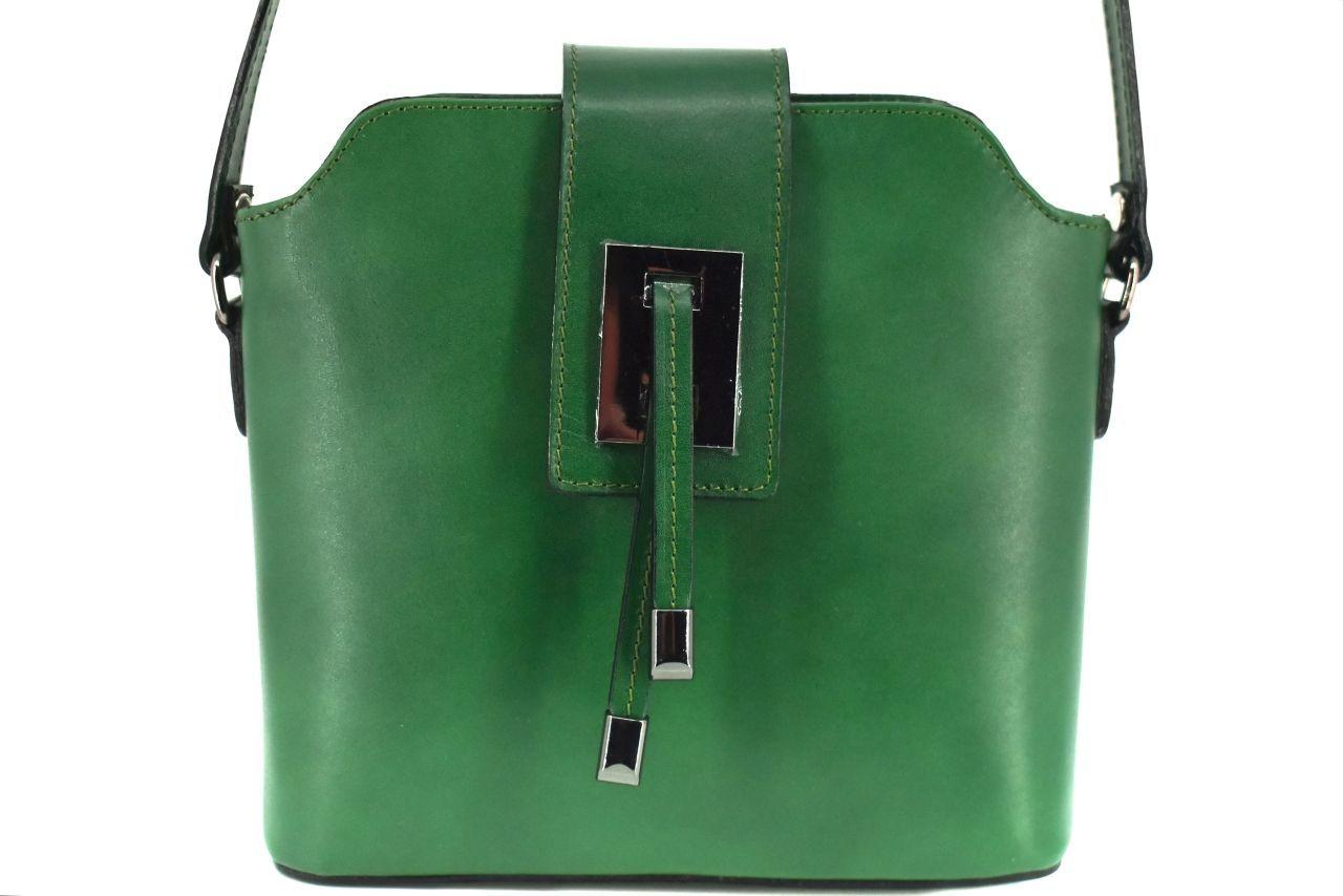Dámská kožená kabelka crossbody Arteddy - zelená 40923