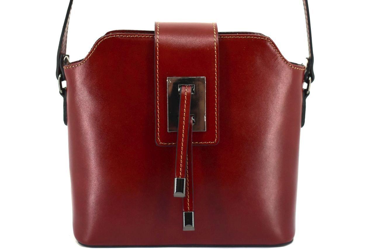 Dámská kožená kabelka crossbody Arteddy - hnědá 40923