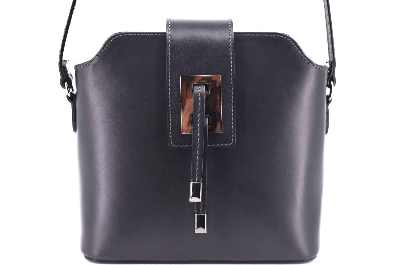Dámská kožená kabelka crossbody Arteddy - tmavě šedá 40923