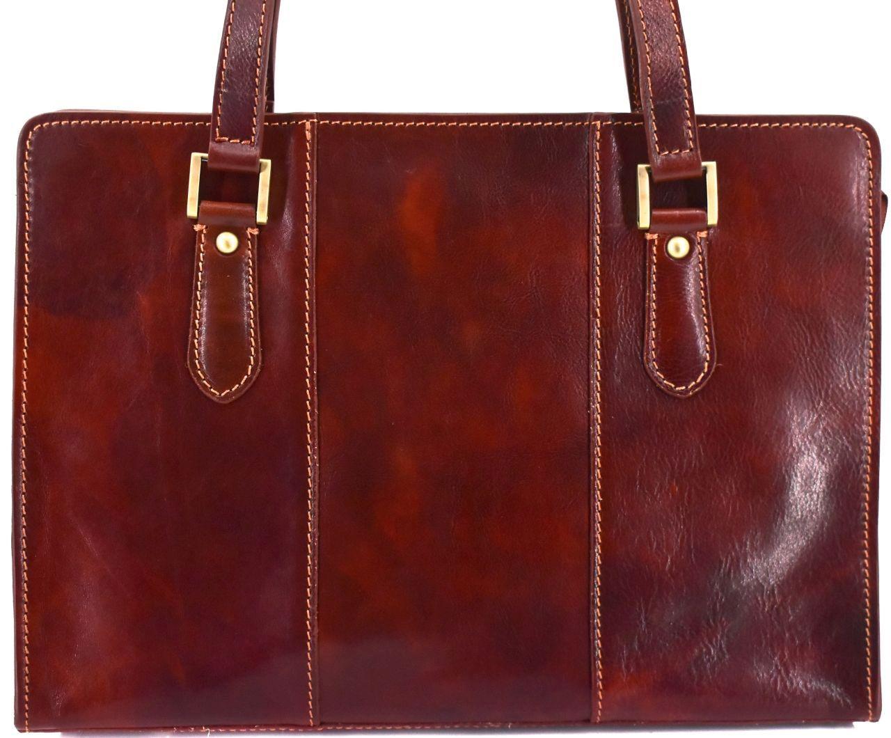 Dámská kožená kabelka Arteddy - hnědá 33955