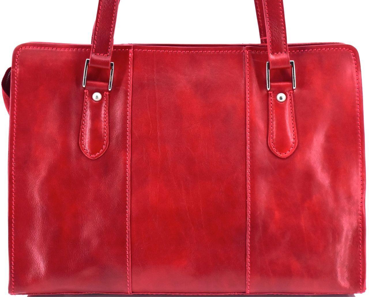 Dámská kožená kabelka Arteddy - červená 33955