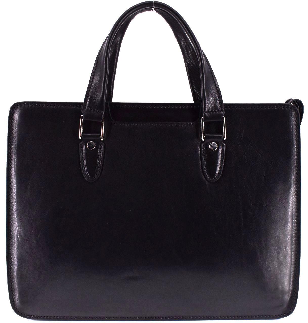 Luxusní dámská kožená kabelka Arteddy - černá 36963