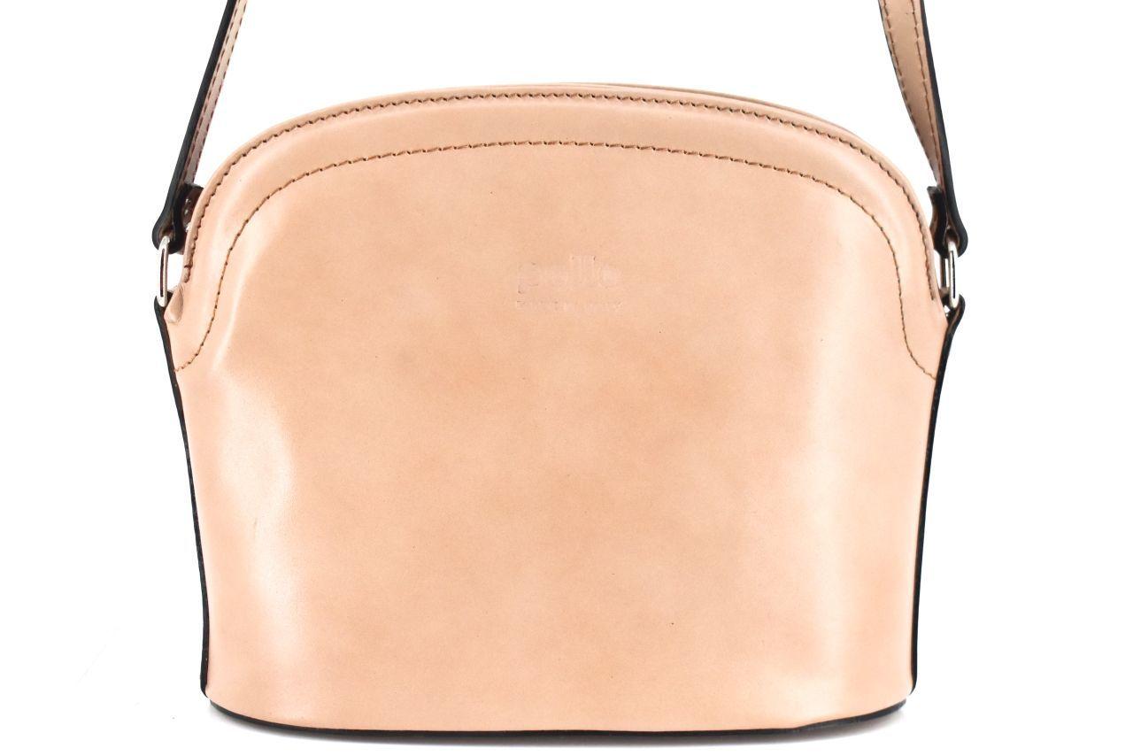 Dámská kožená kabelka crossbody Arteddy - světle béžová 38972
