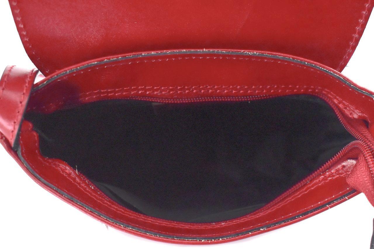 Dámská kožená kabelka s klopnou (crossbody) Arteddy - camel 40928