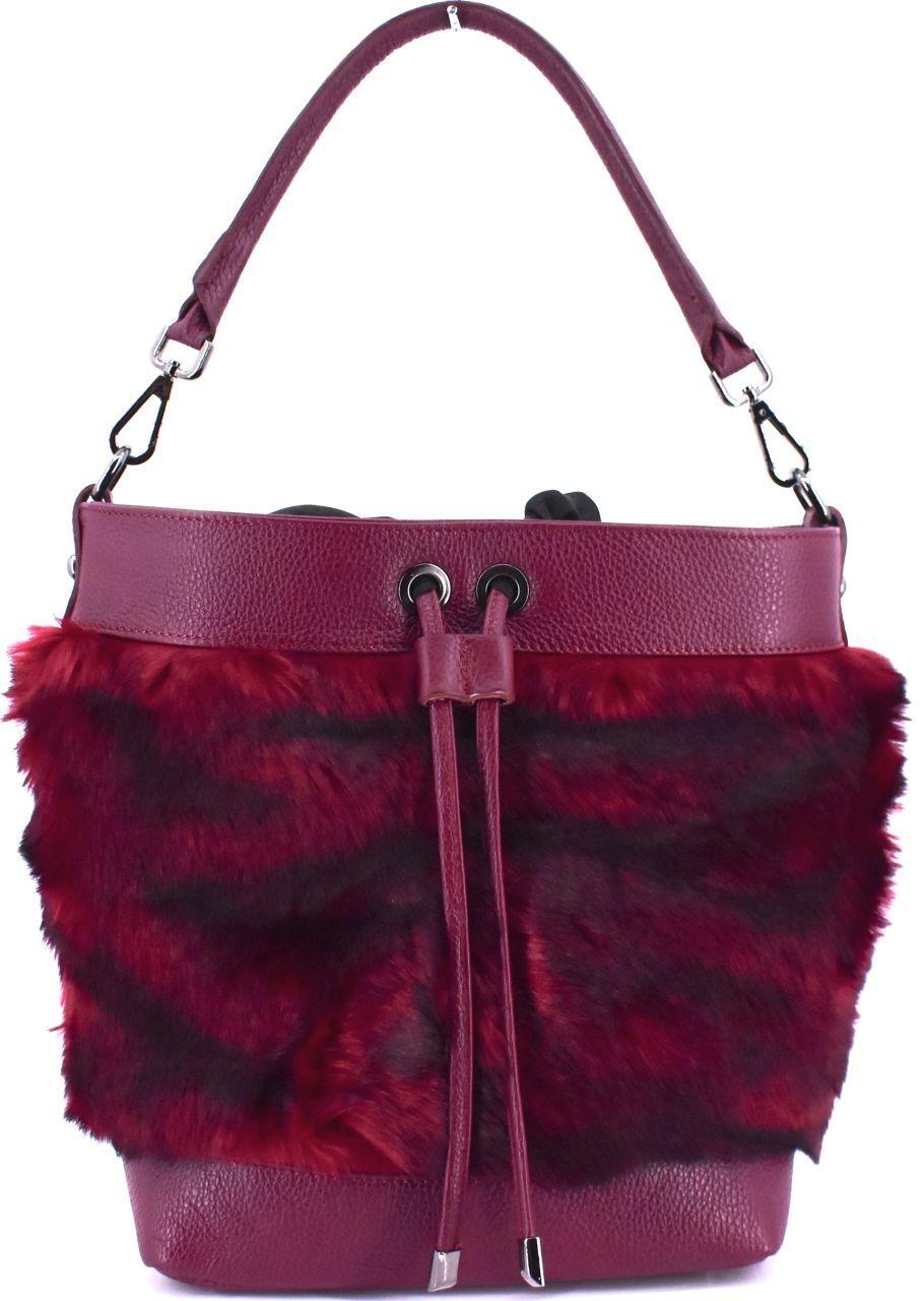 Moderní dámská kožená kabelka Arteddy - vínová 40930
