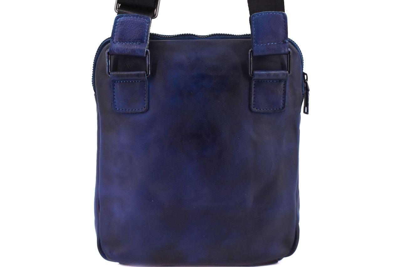 Kožená taška přes rameno crossbody - camel 40937