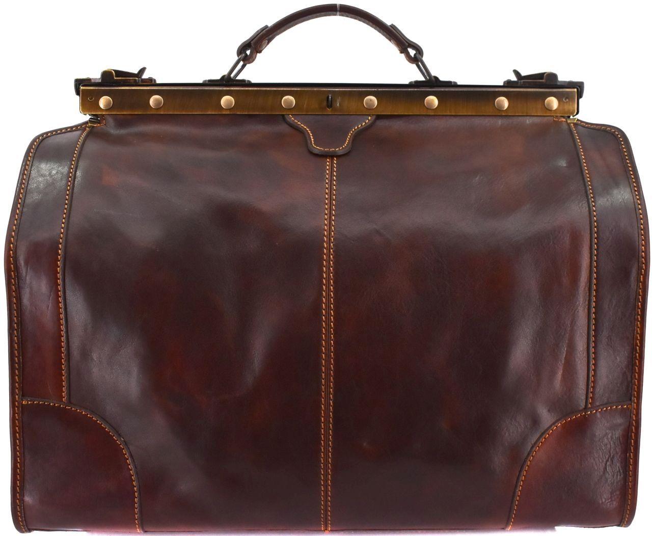 Kožená doktorská taška Arteddy - tmavě hnědá