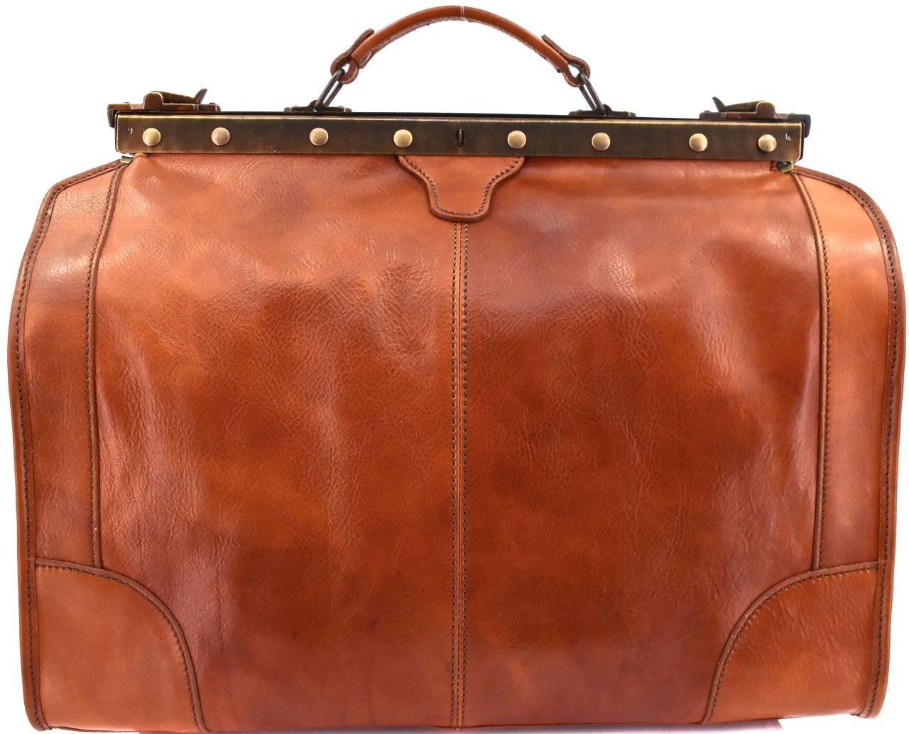 Kožená doktorská taška Arteddy - koňak