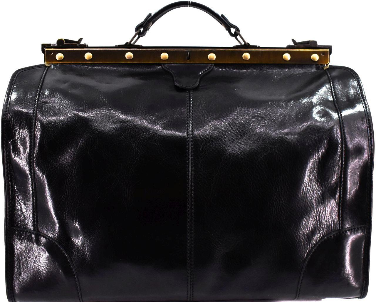 Kožená doktorská taška Arteddy - černá