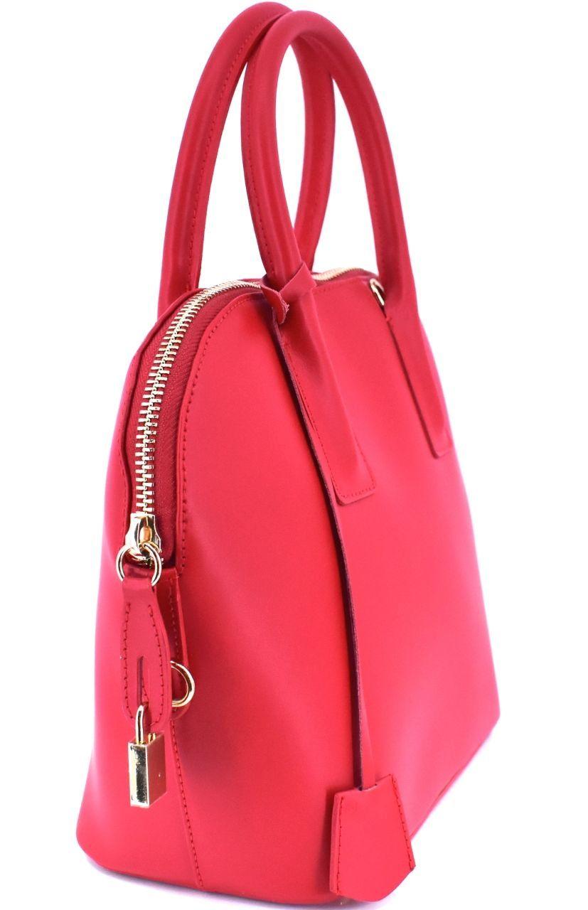 Dámská kožená kabelka Arteddy - červená 32400