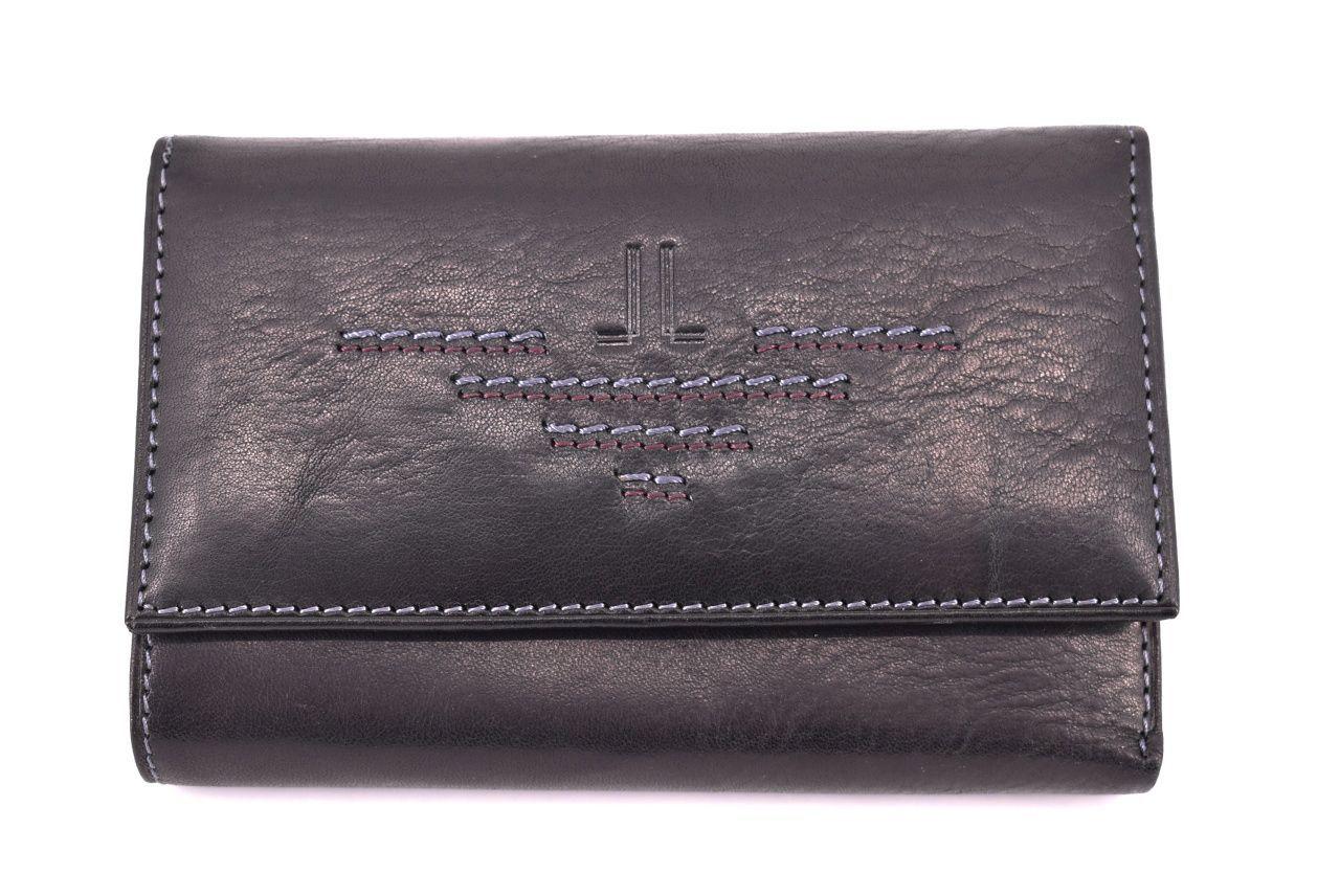 Dámská kožená peněženka Leidi Lanceti - černá 7794