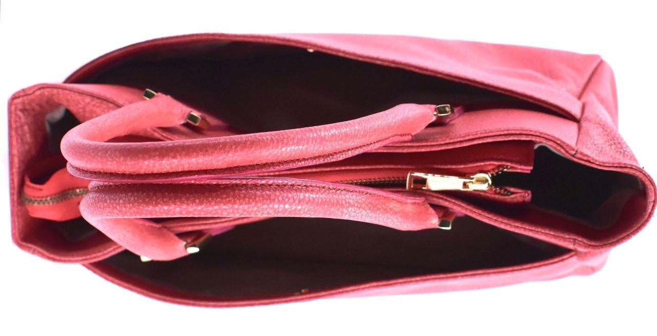 Kožená kabelka Arteddy - lososová 29546