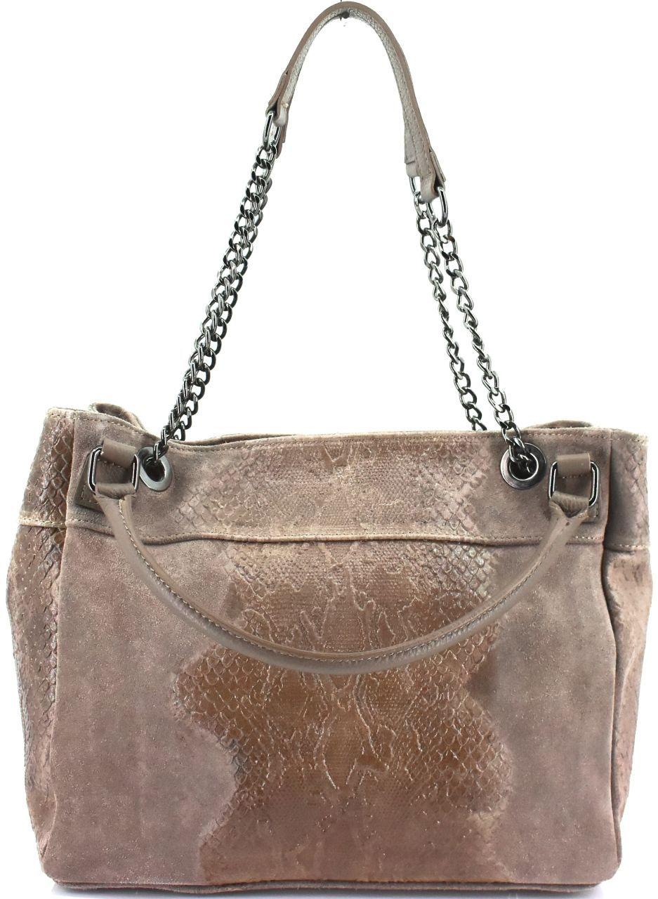 Moderní dámská kožená kabelka Arteddy s hadím vzorem - tmavě modrá 31032