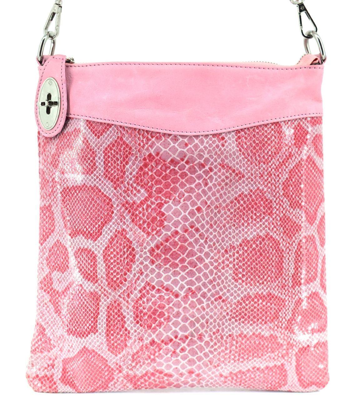 Dámská kožená kabelka crossbody Arteddy - růžová 29686