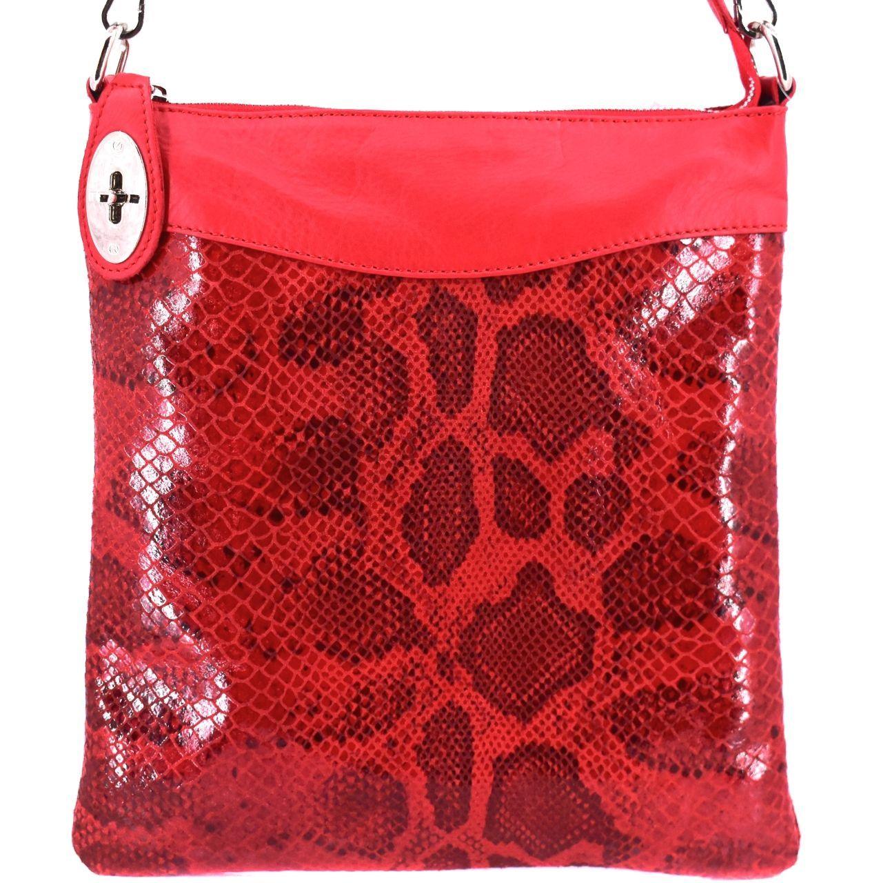 Dámská kožená kabelka crossbody Arteddy - červená