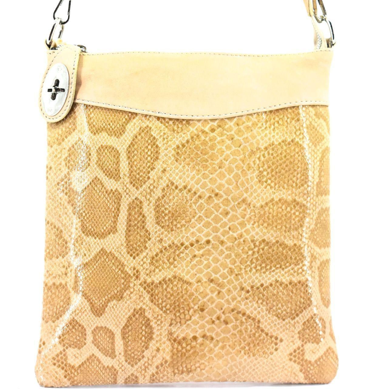 Dámská kožená kabelka crossbody Arteddy - světle béžová