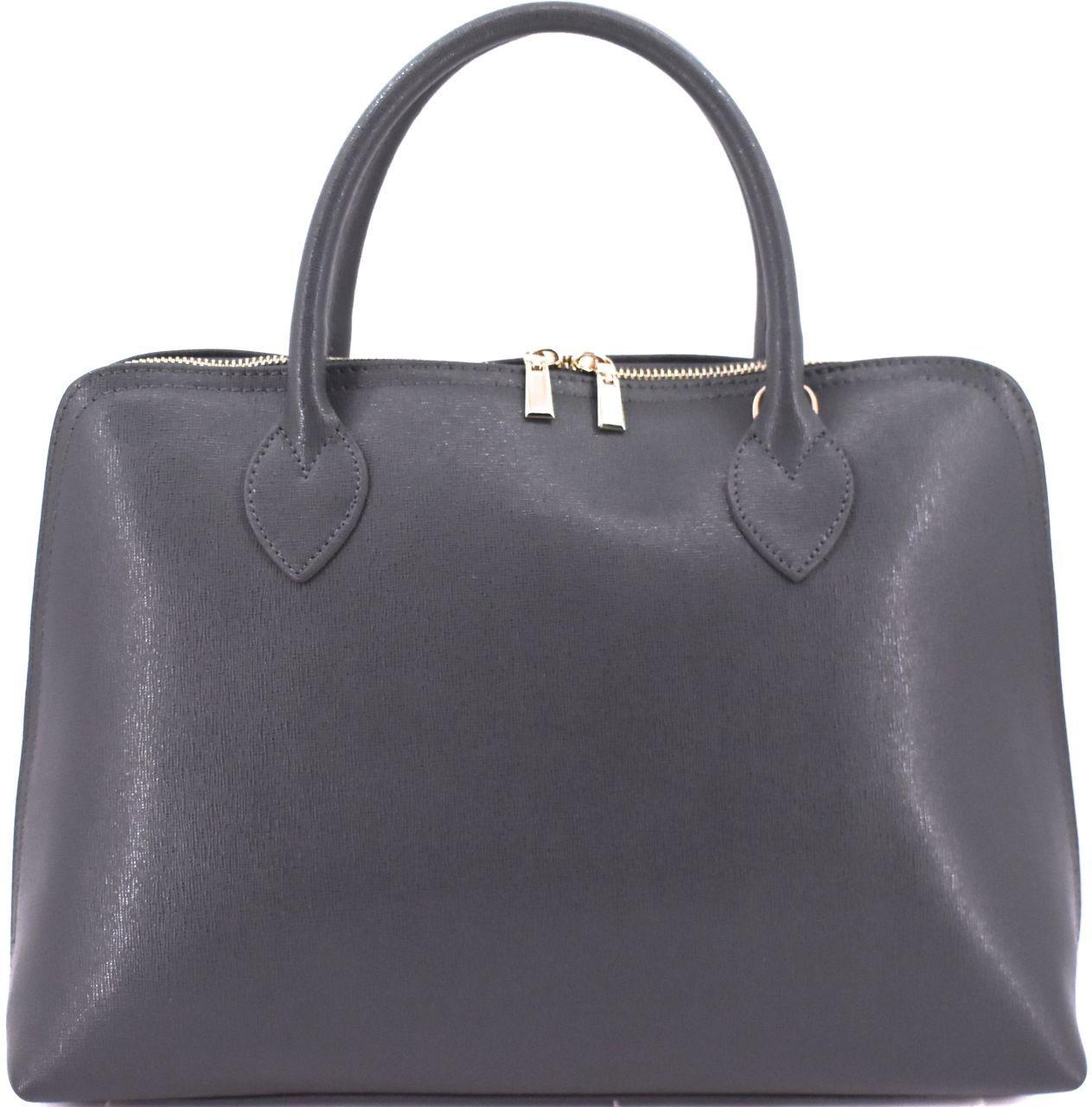 Dámská kožená kabelka Arteddy-tmavě šedá 32445