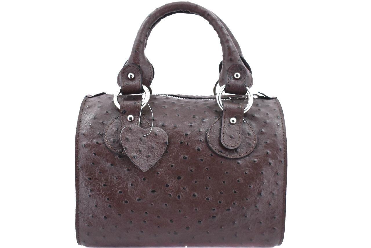Dámská kožená kabelka Shopper - tmavě hnědá 22572