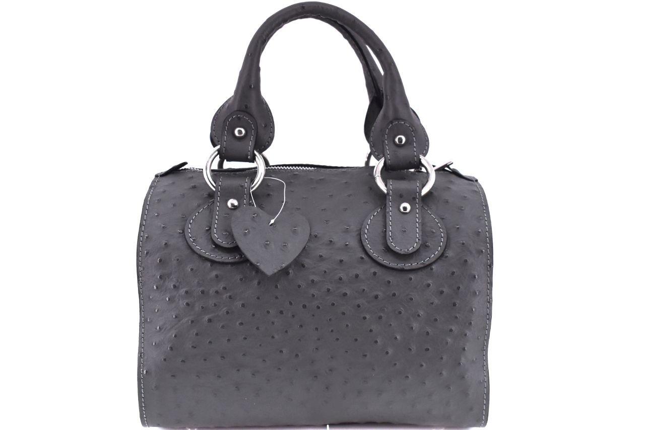 Dámská kožená kabelka Shopper - tmavě šedá 22572