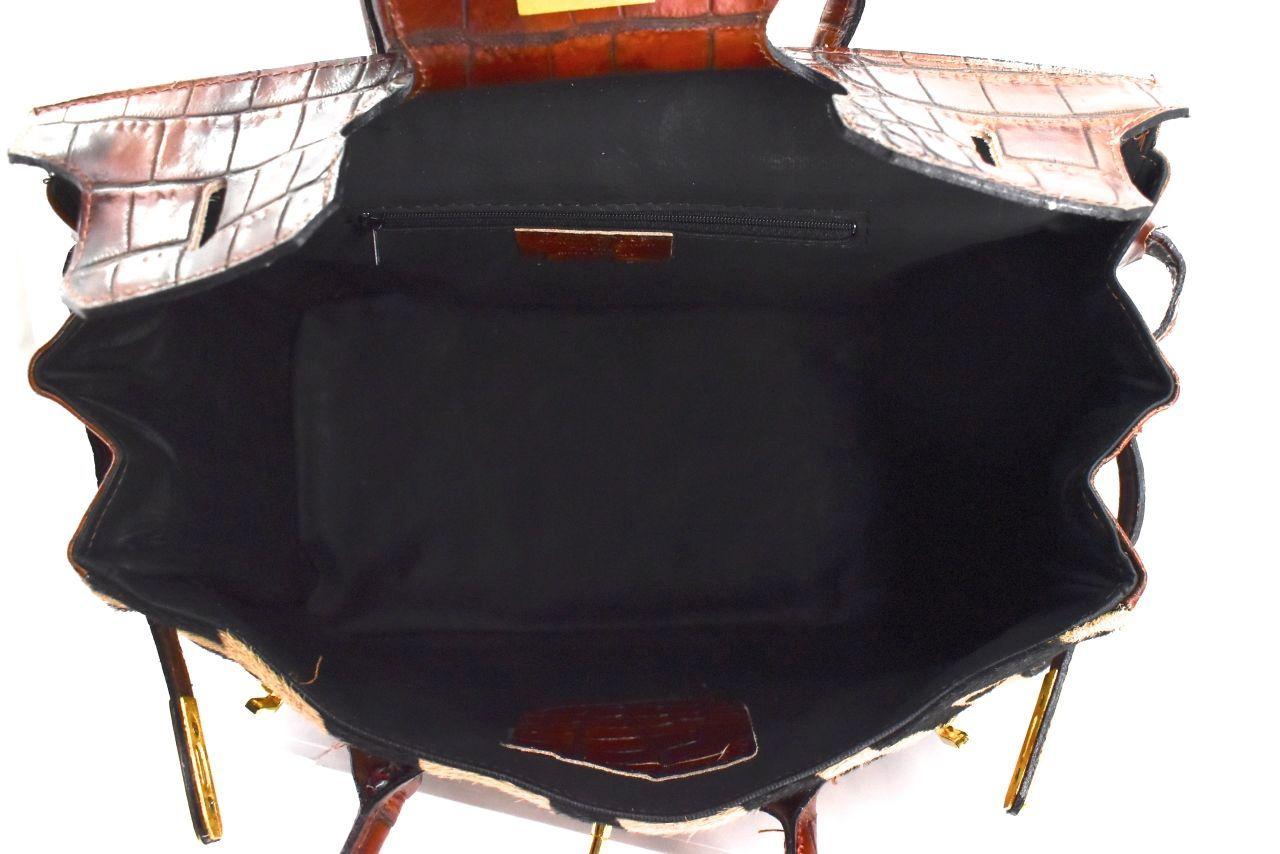 Luxusní dámská kožená kabelka Arteddy - hnědá/béžová