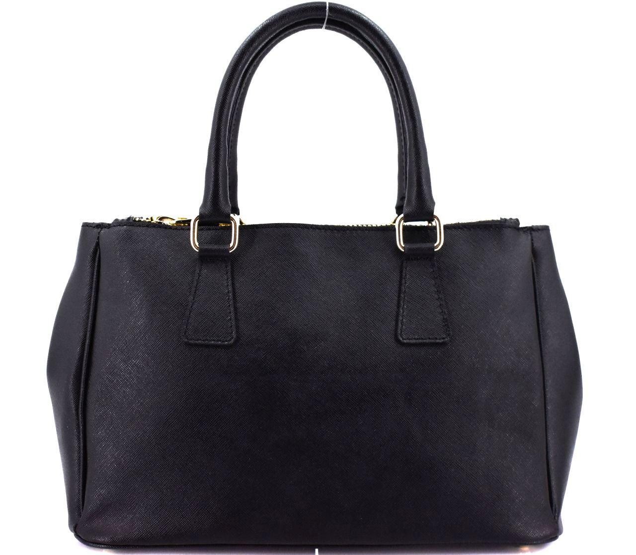 Moderní dámská kožená kabelka Shopper - černá 29511