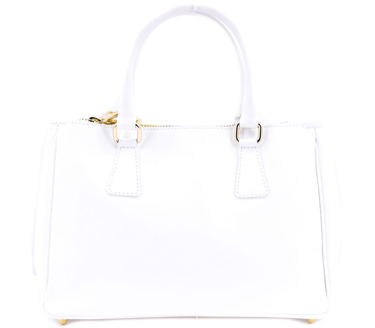 Moderní dámská kožená kabelka Shopper - bílá 29551