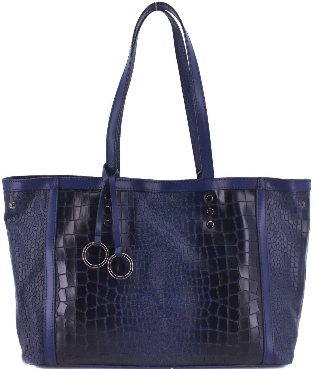 Dámská kožená kabelka Arteddy - tmavě modrá 31034