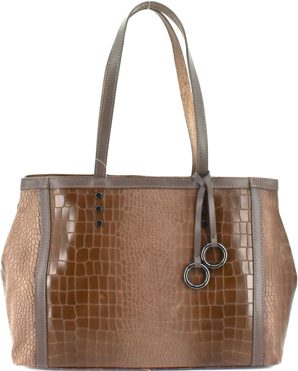 Dámská kožená kabelka Arteddy - taupe 31034