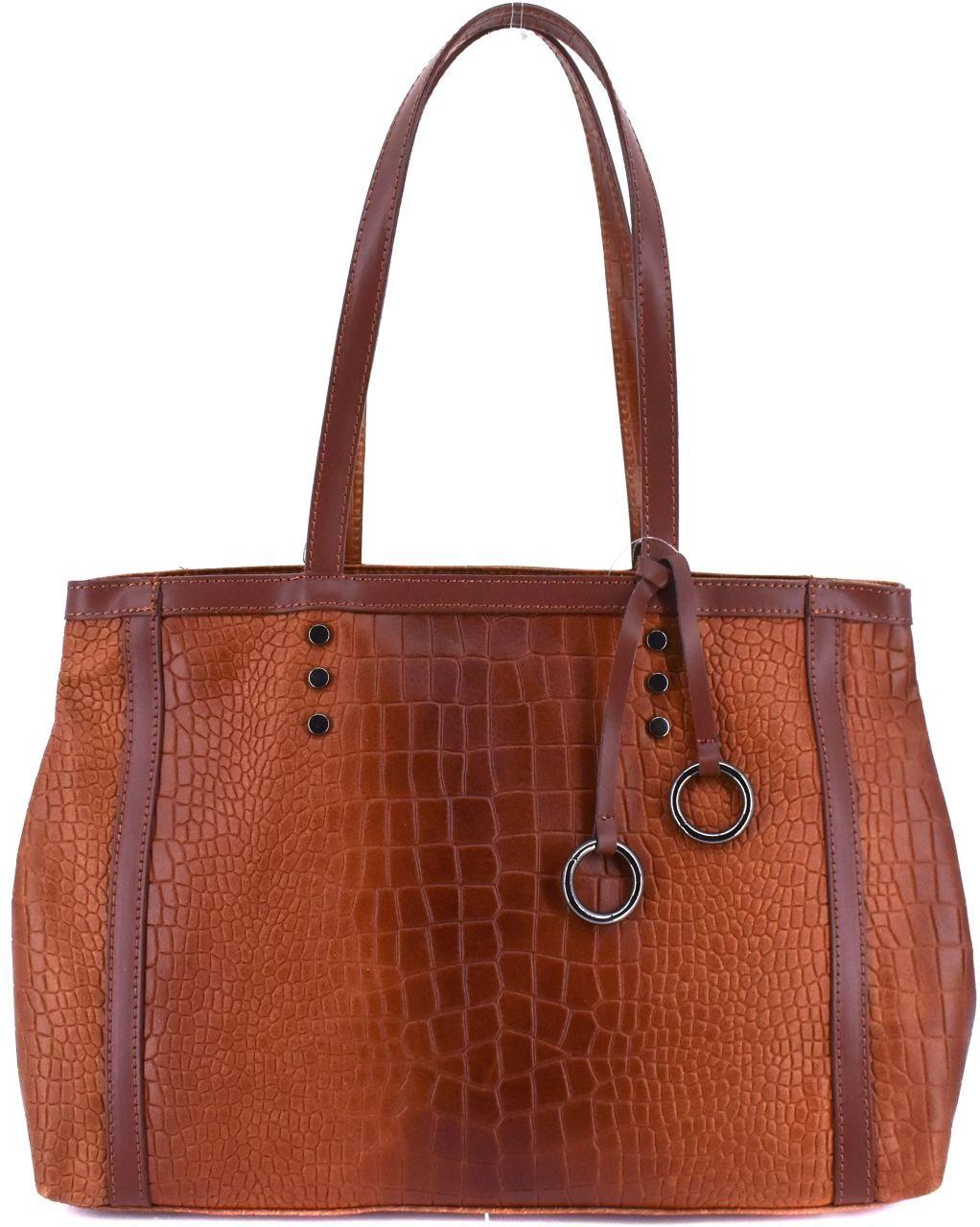 Dámská kožená kabelka Arteddy - hnědá 31034