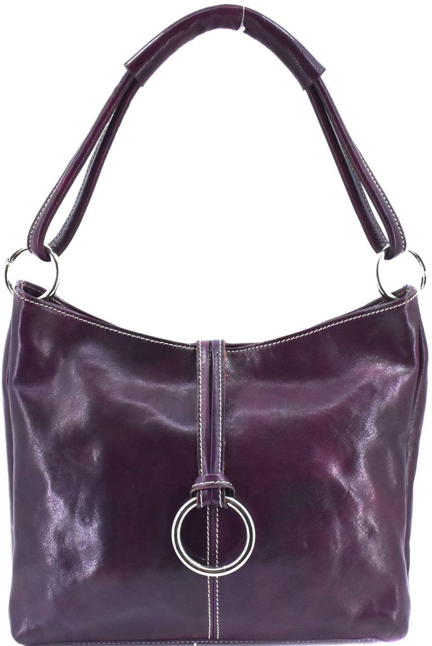 Dámská kožená kabelka Arteddy - tmavě fialová 29618
