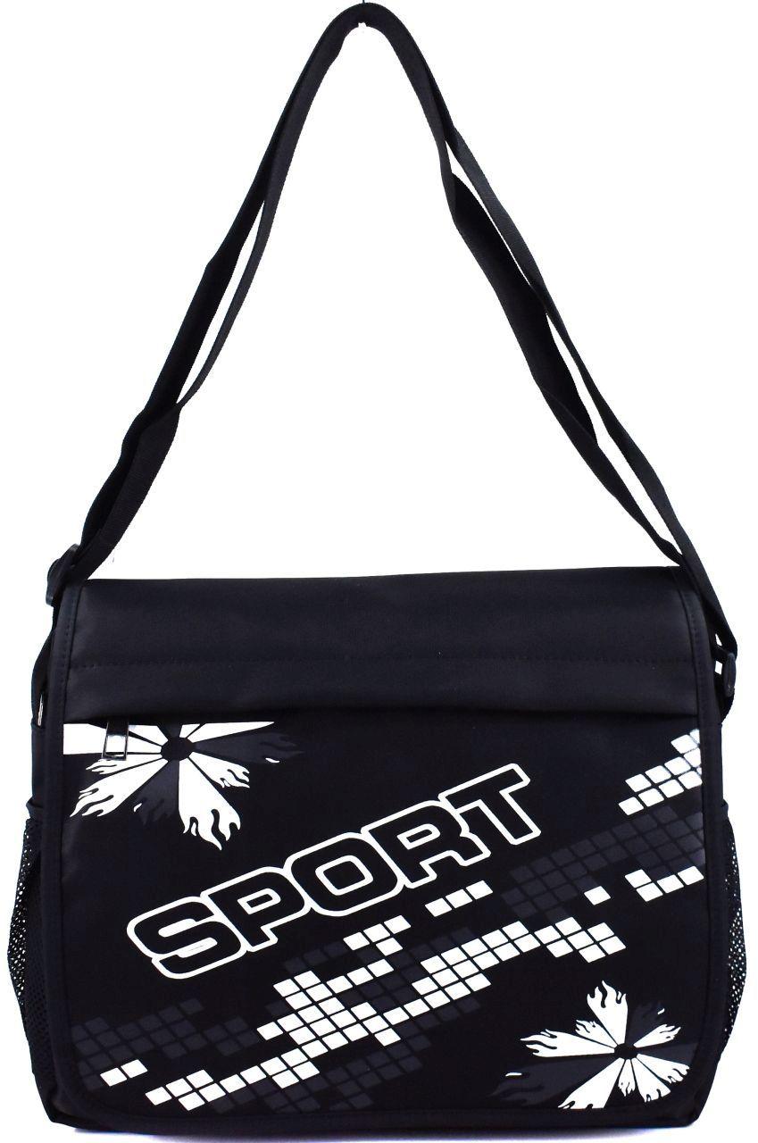 Crossbody taška / sport - černá/bílá