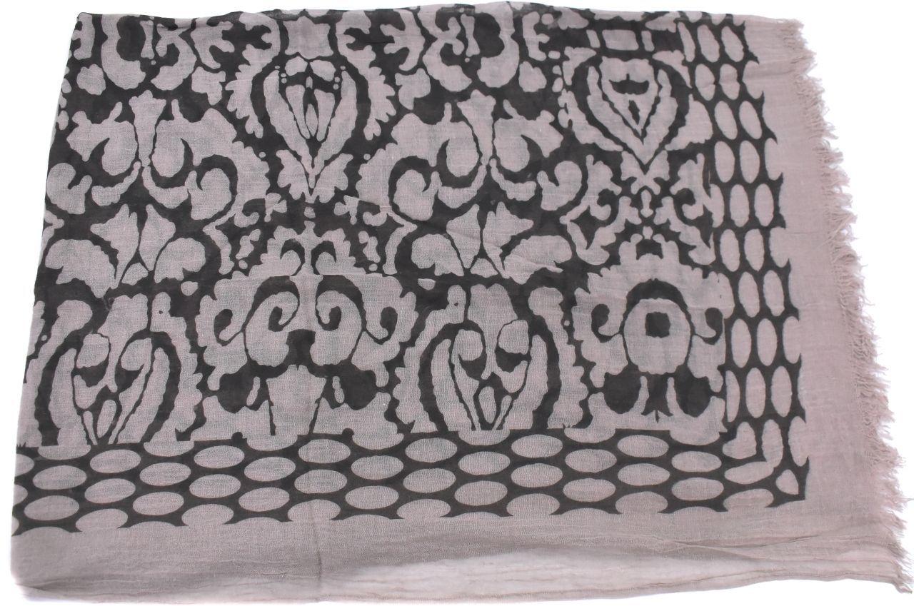 Dámský šátek s potiskem - taupe