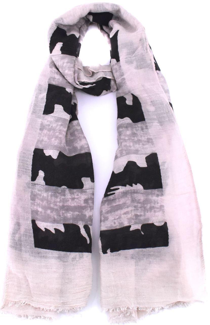 Vzorovaný šátek - béžová