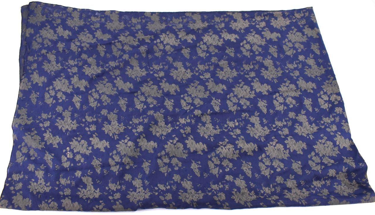 Šátek s potiskem - tmavě modrá
