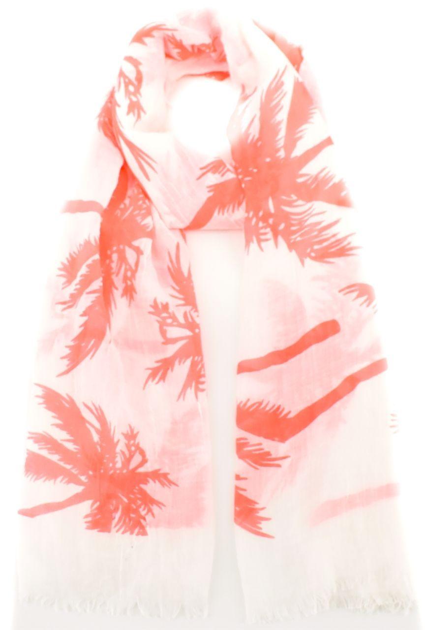 Moderní dámský šátek s potiskem - lososová