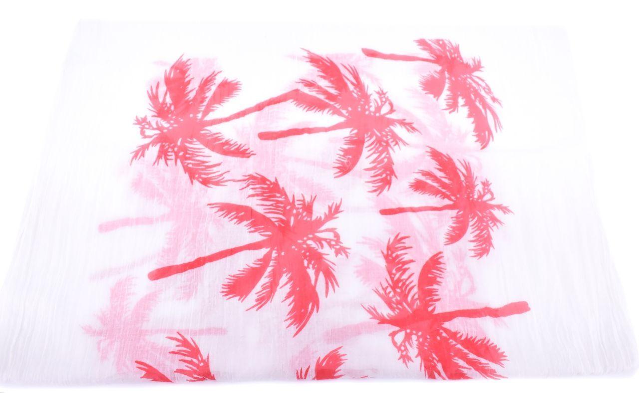 Moderní dámský šátek s potiskem - červená